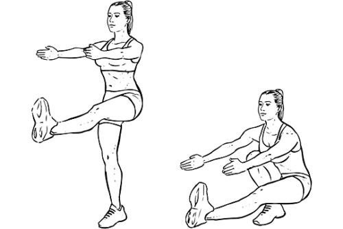 Single-Leg Extended Arm Squats