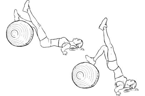 Single Leg Swiss Ball Hips Raise
